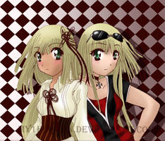 French Twins by hen-tie