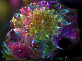 PSYCHEDELIC CHRYSANTHEMUM by 1arcticfox
