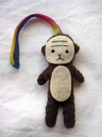 Monkey Keychain by uglykat