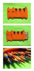 Cat Pencil Pouch 3 by uglykat