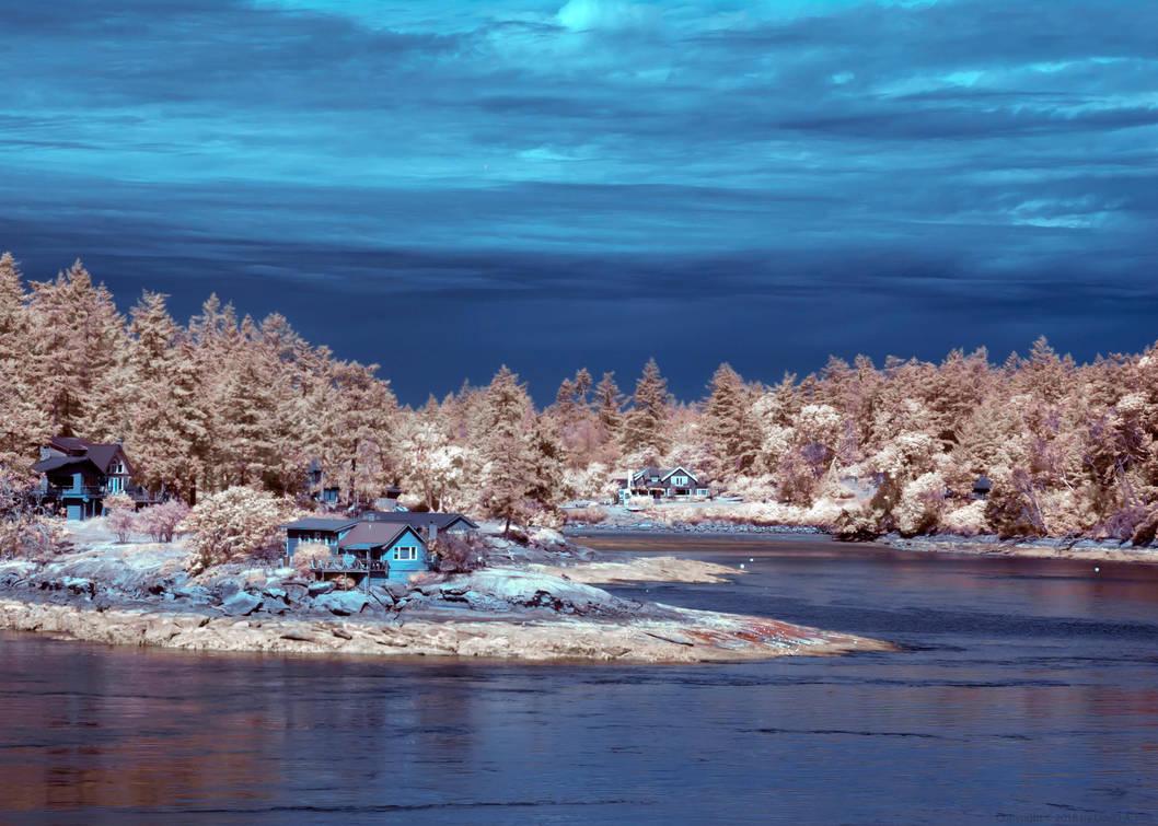 Galiano Island in Infrared by zdfalk