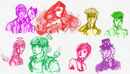Favourite Jojo's Characters by Mrs-Antics