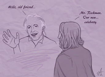 Hello old friend - Alan Rickman by Oracle-of-Moon