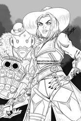 Ashe and Bob WIP by Bysamy