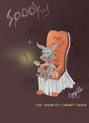 Haunted Carrot Chair (speedpaint challenge) by Snow-Daisy