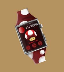 Red Mushroom - Apple Watch by Snow-Daisy