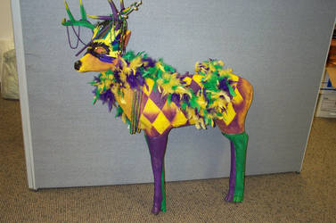 Marty, the Mardi Gras Deer by Jester1525
