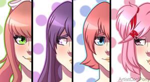 Doki Doki Literature Club Version 1 by ArtistCoolPony