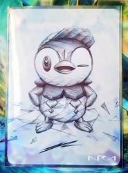 Ultra Pen Art ::: Piplup ::: by NurRayArt by NurRayArt