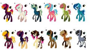 Pony Adopt - Open - 1/12 by faithdakitty