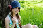 Sam in the grass 01 by TreyaLynn