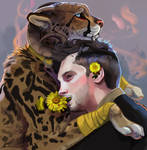 Pet Cheetah and Tyler by ISKVOREETS