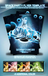 Space Party Flyer Template by si-ajidz