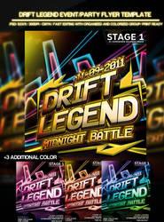 Drift legend flyer template by si-ajidz