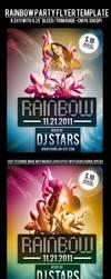 Rainbow Party Flyer Template by si-ajidz