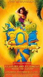 2012 Freshtival Party Flyer Template by si-ajidz
