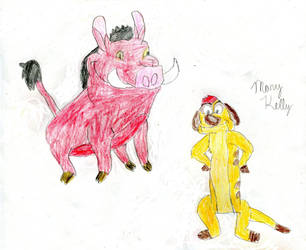 Timon and Pumbaa by MaryKelly10