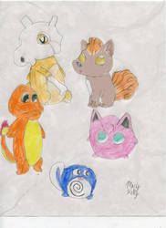 5 Pokemon by MaryKelly10