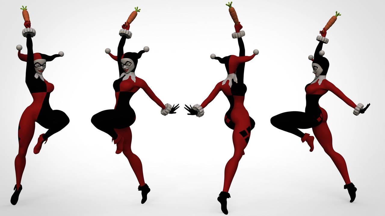 Harley Quinn Sculpture by Ondervragen
