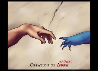 Creation of Stitch by kaykaykit