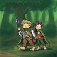 Sam and Frodo by ENMadLemon