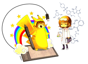 Scientific me vs artistic me by Willow-San