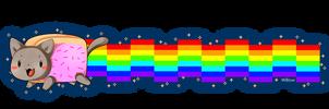 Nyan Cat bookmark by Willow-San