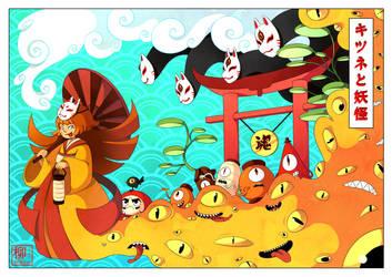 Kitsune and the Yokai by Willow-San