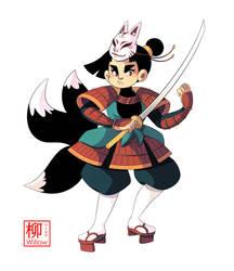 Kitsune Samurai by Willow-San