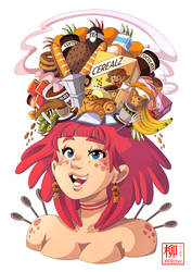 Breakfast girl by Willow-San
