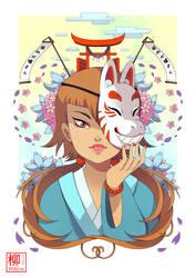 A kitsune girl by Willow-San