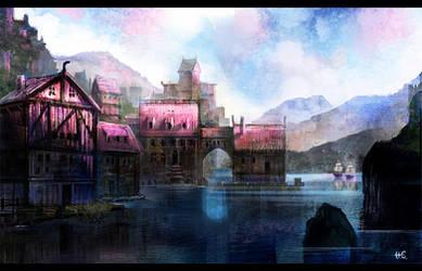 Norse Village by Pencil-guy