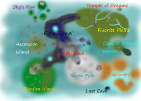 Feral Heart: Full Map by FanguoftheFlowers