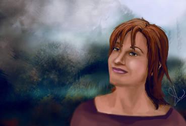 Teyla from SGA (painting) by spiritcoda