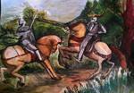 The Knights Battle by spiritcoda