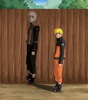 Naruto and Minato by karka92