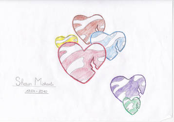 Shawn Michaels (1984-2010) Hearts by RaphKeiko