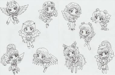 Surprise Chibi Senshi!! by goth-chan