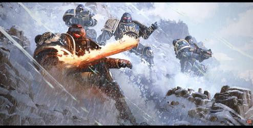 Astartes of the Indomitus Crusade - Ultramarines by CharlesEJD