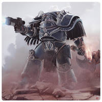 Lernaean Alpha Legion Terminator by CharlesEJD