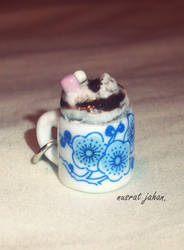 creamy hot chocolate charm. by ButterMakesYouFat