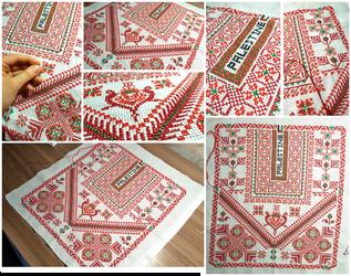 Palestinian cross stitch embroidery by Oksaanaa