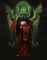 Cthulhu Religious Icon by goosezilla