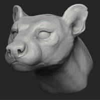 fossa zbrush sculpt by goosezilla