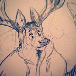 Elk Face by goosezilla