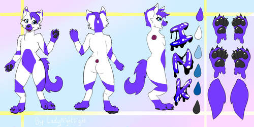 Reference sheet commission for ink by LadyNightLight