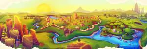Momonga Pinball Adventures - Levelmap Art by Aikuza