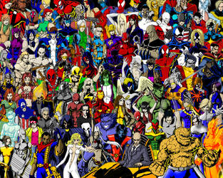 Marvel Super Heroes by thorup
