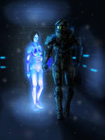 Halo - Master Chief and Cortana by thorup