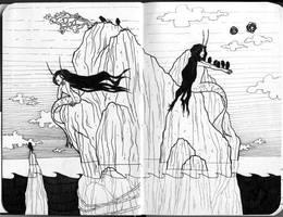 [sketchbook] A little mermaid prince by JessicaKKowton